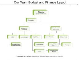Our Team Budget And Finance Layout
