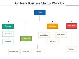 Our Team Business Startup Workflow