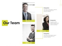Our Team Communication B244 Ppt Powerpoint Presentation Gallery Ideas