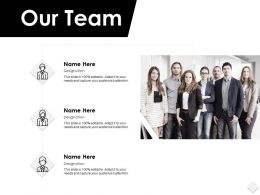 Our Team Communication F128 Ppt Powerpoint Presentation Portfolio