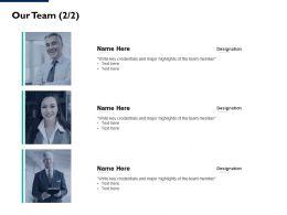 Our Team Communication L101 Ppt Powerpoint Presentation Portfolio Slides