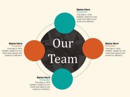 Our Team Communication Management Planning Business