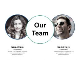 Our Team Communication Ppt Inspiration Background Designs