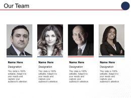 Our Team Communication Ppt Inspiration Design Inspiration