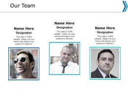 Our Team Communication Ppt Powerpoint Presentation Portfolio Master Slide