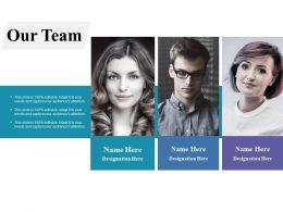 Our Team Communication Ppt Professional Slide Portrait