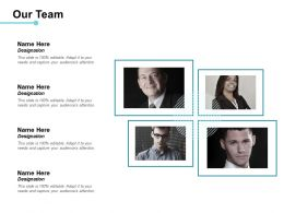 Our Team Communication Process Ppt Powerpoint Presentation File Model