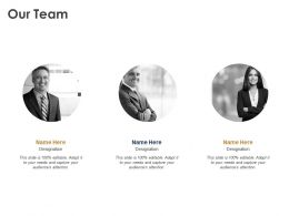 Our Team Coordination K97 Ppt Powerpoint Presentation Styles