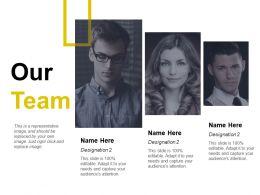 Our Team Designation Ppt Ideas Background Images
