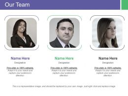 Our Team Designation Ppt Inspiration Gallery
