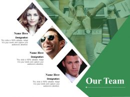 Our Team Designation Ppt Summary Design Ideas