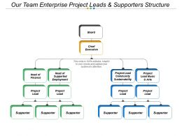 Our Team Enterprise Project Leads And Supporters Structure