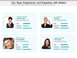 Our Team Experience And Expertise With Sliders