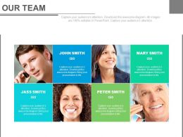 Our Team For Business Communication Powerpoint Slides
