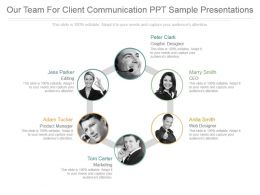 Our Team For Client Communication Ppt Sample Presentations