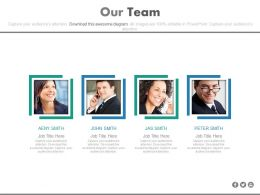 Our Team For Customer Relationship Management Powerpoint Slides