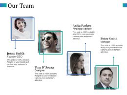 Our Team Founder Ceo Financial Advisor Designer Manager