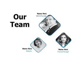 Our Team Introduction A117 Ppt Powerpoint Presentation Summary Portfolio