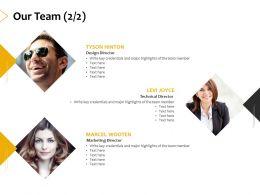 Our Team Introduction A406 Ppt Powerpoint Presentation Portfolio Brochure