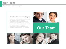 Our Team Introduction Business Communication Strategy Powerpoint Slides