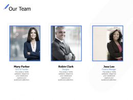 Our Team Introduction Communication C288 Ppt Powerpoint Presentation Ideas Deck