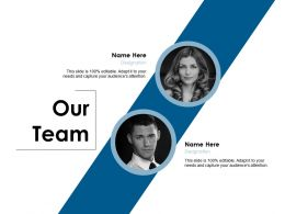 Our Team Introduction Communication E152 Ppt Powerpoint Presentation Show Display