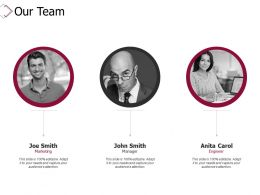 Our Team Introduction D296 Ppt Powerpoint Presentation Infographics Deck