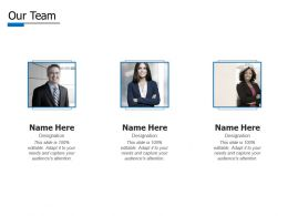 Our Team Introduction E428 Ppt Powerpoint Presentation Infographics Background