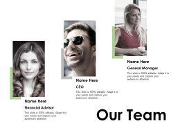 Our Team Introduction F377 Ppt Powerpoint Presentation Portfolio Slides