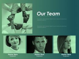 Our Team Introduction F434 Ppt Powerpoint Presentation Infographics Graphics Example