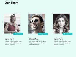 Our Team Introduction F725 Ppt Powerpoint Presentation Portfolio Ideas