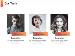 Our Team Introduction F749 Ppt Powerpoint Presentation Gallery Maker