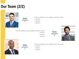 Our Team Introduction L496 Ppt Powerpoint Presentation Portfolio Visual Aids