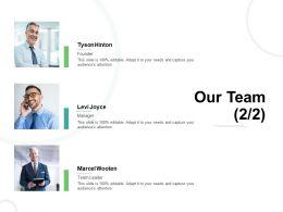 Our Team Introduction L752 Ppt Powerpoint Presentation Portfolio Styles