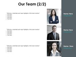 Our Team Introduction Planning F658 Ppt Powerpoint Presentation Slides Vector