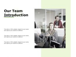 Our Team Introduction Ppt Powerpoint Presentation File Styles