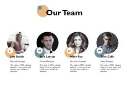 Our Team Introduction Ppt Powerpoint Presentation Icon Templates