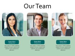 Our Team Introduction Ppt Powerpoint Presentation Infographics Portfolio