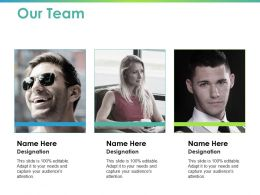 Our Team Introduction Ppt Powerpoint Presentation Layouts Show