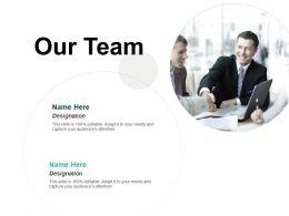 Our Team Introduction Ppt Powerpoint Presentation Portfolio Layout