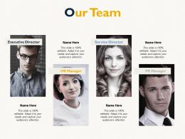 Our Team Introduction Teamwork E79 Ppt Powerpoint Presentation Infographics Format