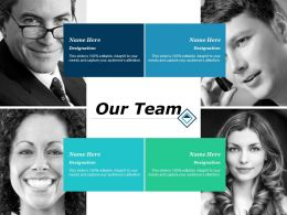 Our Team Introduction Teamworks F136 Ppt Powerpoint Presentation Vector