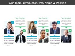 Our Team Introduction With Name And Position