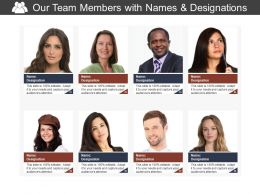 Our Team Members With Names And Designations