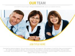 Our Team Of Professionals For Business Powerpoint Slides