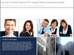Our Team Portfolio Diagram Ppt Images Gallery Presentation Outline
