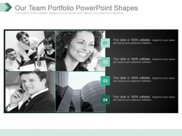 Our Team Portfolio Powerpoint Shapes