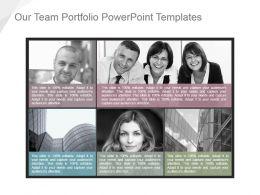 Our Team Portfolio Powerpoint Templates