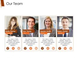 Our Team Powerpoint Presentation Templates