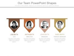 Our Team Powerpoint Shapes